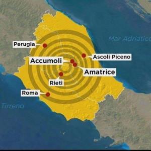 Le zone sismiche colpite dalle scosse della scorsa notte