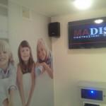 Interno del prototipo della Madis Room con video simulazione