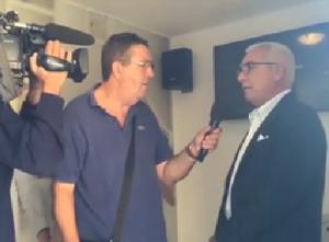 Antonio D'Intino intervistato dal giornalista di Rai 3