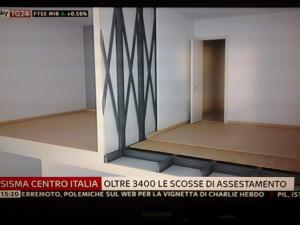 Un'immagine della composizione della Madis Room mostrata oggi pomeriggio nella diretta di Sky Tg24