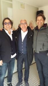Da sx, Corrado Chiodi, Antonio D'Intino inventore della Madis Room, Stefano Cipriani di Gaia Costruzioni