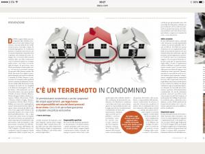L'articolo della rivista CONDOMINIO SC che parla della responsabilità degli amministratori condominiali nel caso di danni provocato dal sisma.