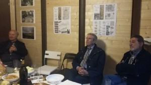 L'Ing. Ciammitti e i tecnici Garofalo e Ttruppi a colloquio nella Stanza Antisismica al termine della riunione e dell'inaugurazione