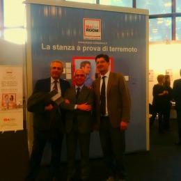 Il prototipo della Stanza Antisismica inaugura l'apertura della fiera Arkeda dedicata alle innovazioni tecnologiche - Napoli 26 novembre 2014
