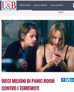 """La rivista Uomini & Business sulla quale è apparso l'articolo di Giuseppe Turani """"10 milioni di panic room contro il terremoto"""""""