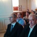 Il Presidente Ance di Avellin, Giuseppe Scognamillo a sinistra, e l'ing. Ruggero Galasso coordinatore degli eventi della 5 Giornate di prevenzione sismica