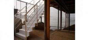 Il trabocco di Pescara: vista dalla scalinata di ingresso